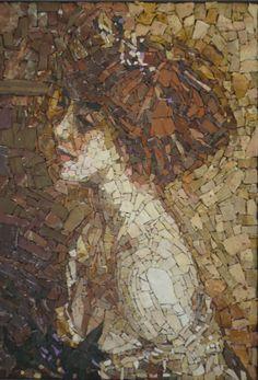 Reproduction de mosaïque de peinture de Boldini par StefaniaMosaico