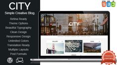 Download Free City v1.0 Retina Ready Responsive WP Theme