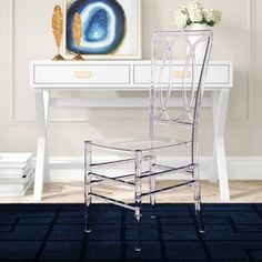 Acrylic Chair | Wayfair Solid Wood Dining Chairs, Upholstered Dining Chairs, Dining Chair Set, Acrylic Chair, Public Seating, Chiavari Chairs, School Furniture, Stackable Chairs, Side Chairs