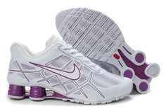 0904b80293f3 Now Buy Nike Shox Turbo 12 Womens Leather White Purple Cheap Save Up From Outlet  Store at Footlocker.