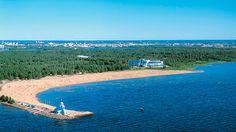 Nallikari Beach in Oulu, Finland Good Neighbor, Best Cities, Home And Away, Road Trip, Europe, Ice, Spaces, Country, Beach