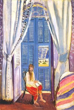 43-Turhan Nacar-HENRİ MATİSSE... (1869 - 1954) ______________________________________________ French Window at Nice (Les Persiennes) 1919