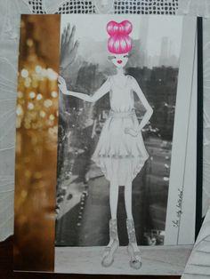 Ilustração 2 sobre o Ballerina Project - grafite, caneta hidrografica e colagem