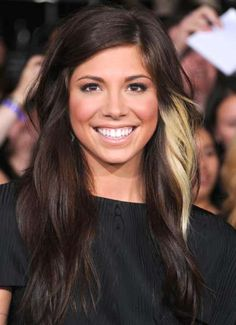 Christina Perri's blonde streak <3. Someone requested that I do this to my hair, a Rogue blonde streak :)