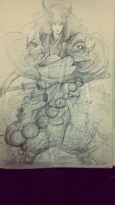 【原画梦精英用户第一季】超强线稿流!xi...@Chibi猫采集到最爱插画(827图)_花瓣插画 Character Sketches, Character Concept, Character Art, Concept Art, Character Design, Drawing Sketches, Art Drawings, Sketching, Art Sketchbook