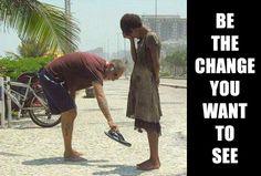 Beauty in giving!