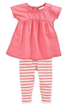 Acheter Robe rose et Leggings Set (0-18mths) à partir de la boutique en ligne Next Royaume-Uni
