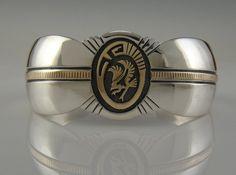 Vintage SS and 14ky Gold Bracelet by Hyson Craig