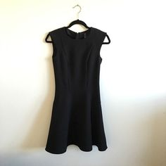H&m black fit and flare dress In great condition H&M Dresses