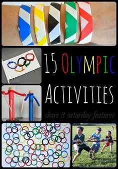 A collection of 15 Olympic activities for kids from Share It Saturday