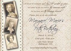 Custom Birthday Invitation By Keepsakesbychristy