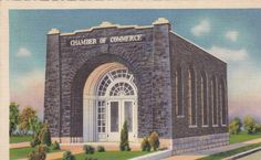 Coal House- Chamber of Commerce- Williamson, West Virginia- 1938 Vintage Postcard- Used