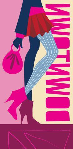 #fashiongirl #shoppinggirl #downtowngirl #shanashay vector illustration by www.shanashay.com