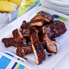 In this barbecue rib recipe, the ribs are smoked long and slow resulting in tender, flavorful meat. The brown sugar and spice rub works in harmony with most barbecue sauces, so choose your favorite brand or make your own.