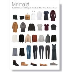 Fall 2017 Project 333 Capsule Wardrobe 6 - Minimalist by asuitcaseheart on Polyvore #project333 #capsulewardrobe #autumnwardrobe #minimalistfashion #minimaliststyle
