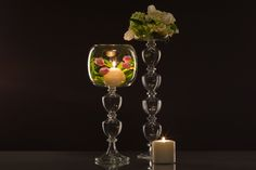 Gabriela Seres- Classic-modern home decor and event handmade glassware Candelabra, Special Events, Candle Holders, Wedding Decorations, Chandelier, Vase, Handmade, Beautiful, Design
