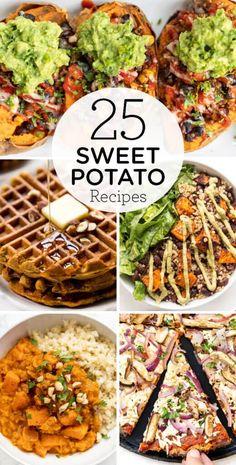 Sweet Potato Pizza Crust, Sweet Potato Waffles, Sweet Potato Breakfast, Sweet Potato Dinner, Sweet Potato Chili, Salad With Sweet Potato, Sweet Potato Recipes Healthy, Vegan Recipes Easy, Recipes