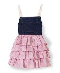 Perfekt für Deine kleine Ballerina: Das pinke Kleidchen mit Stufenrock.