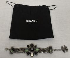 100% Authentic CHANEL Ruthenium Bracelet With Decor NEW with receipt #Chanel