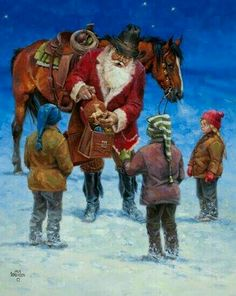 A Texas Christmas. Christmas Scenes, Christmas Past, Very Merry Christmas, Father Christmas, Christmas Pictures, Xmas, Christmas Artwork, Santa Pictures, Christmas Things