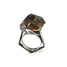 Vespa III Faceted Citrine Cocktail Ring on AHAlife