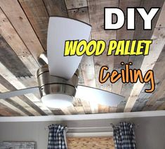 Pallet ceiling tutorial - what a great idea @Inga Gauldin