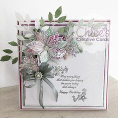 Chloes Creative Cards Craft, Cardmaking and Papercraft Supplies 50th Birthday Cards For Women, Chloes Creative Cards, Stamps By Chloe, Wedding Cards Handmade, Handmade Cards, Crafters Companion Cards, Shabby Chic Cards, Pretty Cards, Flower Cards