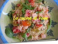 cous cous appetitoso è una ricetta ideale per l'estate, con verdure fresche e gamberetti. ricetta ingredienti e procedimento.