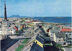 Bildet tatt fra Rådhustårnet, mulig rundt 1970, mot vest.