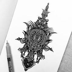 Black and White Pencil Drawing Art by Pavneet Sembhi