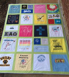 t-shirt quilt made by emily (A Graduation Gift.)