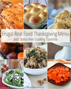 A REAL FOOD THANKSGIVING and SAVE MONEY! This menu will get you started.