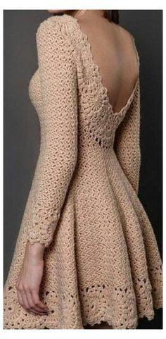 Pull Crochet, Mode Crochet, Crochet Lace Dress, Knit Dress, Crochet Style, Crocheted Lace, Crochet Design, Crochet Baby, Crochet Summer Dresses