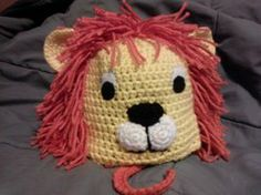 lion crochet hat by lissalyn