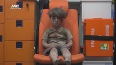 Omran, a four-year-old Syrian boy covered in dust and blood, was pictured in an ambulance after being rescued from the rubble of a building hit by an air strike in the rebel-held Qaterji neighbourhood of Aleppo on August 17