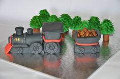 Fondant Steam Train Cake Topper