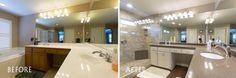 BathCRATE Viggo Place   Ripon, CA   Quartz: MSI Lagos Azul   Cabinets:  Parisian Cashmere   Sink: Kohler Caxton Faucet: Kohler Iyla   Shower Tile: Bedrosians Rome Antique   Floor Tile: Prestige Walnut