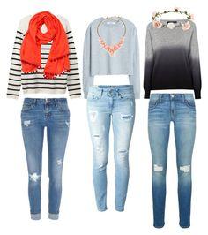 """Sweater weather!!"" by mallysheldon ❤ liked on Polyvore featuring moda, MANGO, 360 Sweater, River Island, Dondup, Rebecca Minkoff, Kate Spade, Shop Latitude Bazaar y Accessorize"