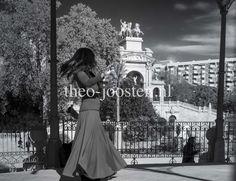 Barcelona Parc de la Ciutadella fotografie black and white street photography women
