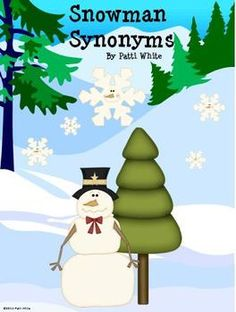 Can you say Snowman Synonyms three times really fast?  Me either, but I can say that I think your students will enjoy this center activity.