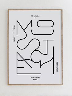 Monoline Font, typography on all sides, black and white minimalism. by Les Graphiquants