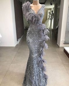 Couture Dubai Feathers Formal Evening Dresses Abendkleider Arabic Couture New Prom Dress For Weddings Robe de soiree Party Gowns(China) Mermaid Evening Dresses, Formal Evening Dresses, Elegant Dresses, Prom Dresses, Formal Prom, Wedding Dresses, African Fashion Dresses, African Dress, Dress Fashion