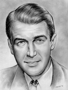 Jimmy Stewart - No. 2 Pencil by *gregchapin on deviantART #Art #CelebrityArt #JimmyStewart