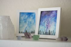 Many people believe that there is a magical formula for home decoration. You do things… Watercolor Night Sky, Night Sky Painting, Watercolor Galaxy, Galaxy Painting, Galaxy Art, Watercolor Art, Constellation Art, Constellations, Space Painting