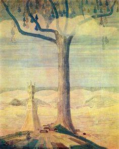 Andante (Sonata of the Summer), 1908 by Mikalojus Ciurlionis. Symbolism. symbolic painting