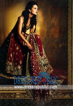 Burgundy Alfred, Product code: DR4876, by www.dressrepublic.com - Keywords: Bridal 2011 Lehenga Choli, Wedding 2011 Lehenga Choli, Designers Wedding Dresses 2011