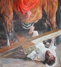 Rob Floyd Fine Art - Stations of the Cross, Christ Falls for the Third Time (Ninth Station)156cm x 142cm