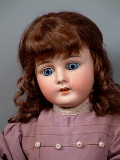 "*MON TRESOR--OOH LA LA* 21"" French ANTIQUE Doll with HYPNOTIC BABY BLUES! MUST C"