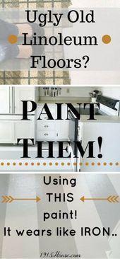 Wie Man Alte Linoleum Kuchenboden Malt Nannys House Kuchenboden Linoleum Bodenmalerei