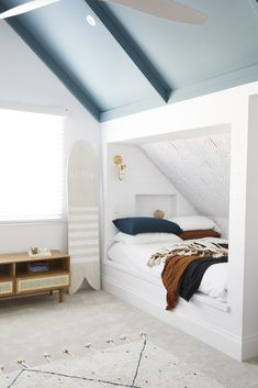 House 11 - Colour Me Hamptons Renovation, Kids Room, Kids Beds, Feature Walls, Colours, Boys Room, Transformation